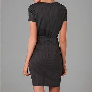 Theory Dresses - Theory Dark Grey Pinstripe Kabilla Dress